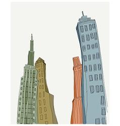 Creative Skyscraper Towers vector image