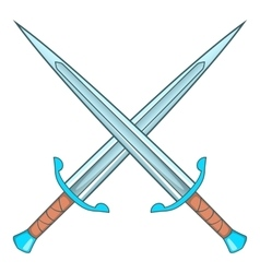 Crossed swords icon cartoon style vector image