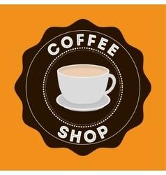 Cup of Coffee shop design vector
