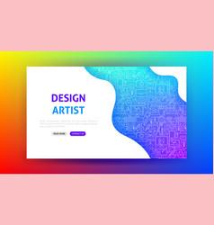 Design artist landing page vector