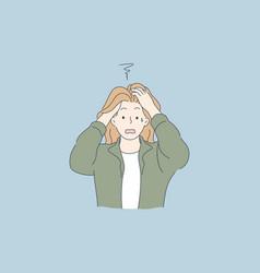 despair frustration depression mental stress vector image