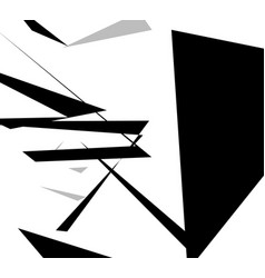 Edgy angular shapes abstract monochrome art vector