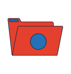 empty folder archive office supply icon vector image
