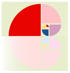 Fibonacci spiral vector