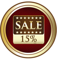 Fifteen percent sale icon vector