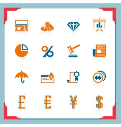 financial icons in a frame series vector image