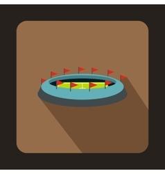 Football stadium icon flat style vector