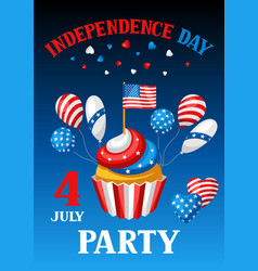 fourth july independence day party banner vector image