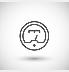 gauge line icon vector image