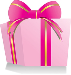 Giftbox pink vector
