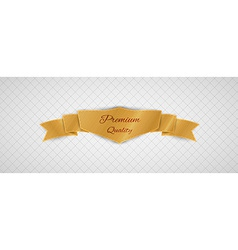 Gold quality label vector