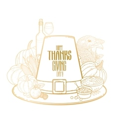 Graphic Thanksgiving day hat vector