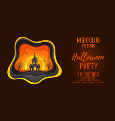 Halloween party web banner design vector