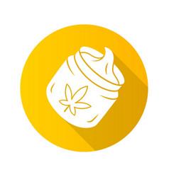Hemp cream flat design long shadow glyph icon vector