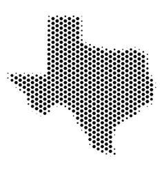 Hexagonal texas map vector