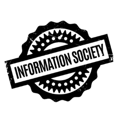 Information Society rubber stamp vector