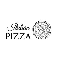 italian pizza label badge pizzeria design elements vector image