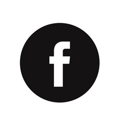 Letter f icon facebook logo vector