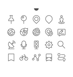 location pixel perfect well-crafted thin vector image