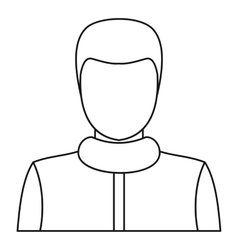 Male icon outline style vector image