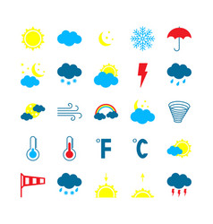 modern weather icons set flat vector image