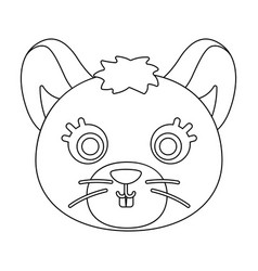 Mouse muzzle icon in outline style isolated on vector