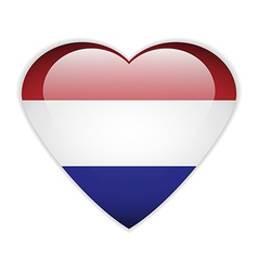 Netherlands flag button vector image