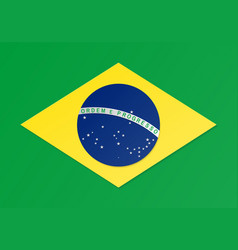 paper cut brazil flag vector image