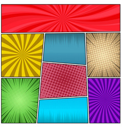 Pop art colorful background vector