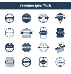 premium quality and guarantee product label and vector image