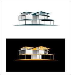 Real estate villa vector image