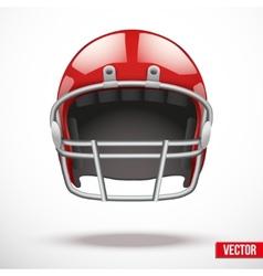 Realistic American football helmet vector image