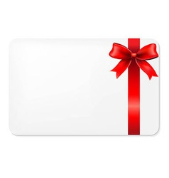 Red Bow And Blank Gift Tag vector