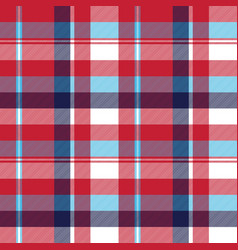 Red check plaid seamless fabric texture vector
