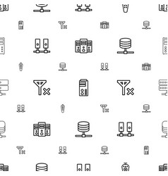 remote icons pattern seamless white background vector image