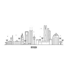 riyadh skyline saudi arabia city buildings vector image