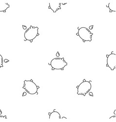save piggy bank water pattern seamless vector image
