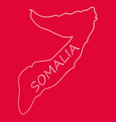Somalia map with waving flag of country vector