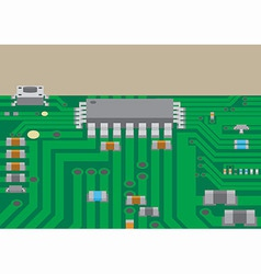 Surface mount technology printed circuit board vector
