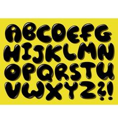 black bubble alphabet vector image vector image