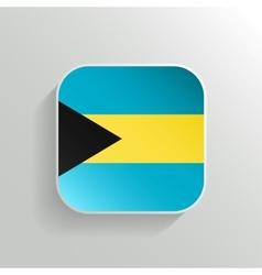 Button - Bahamas Flag Icon vector image