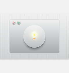 eco charge the battery buttonmodernlight vector image