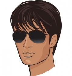 face man vector image vector image