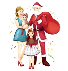 family Christmas vector image vector image