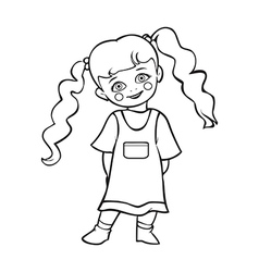 Cute baby girl smiling cute baby girl vector image