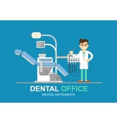 Dentist chair isolated vector image