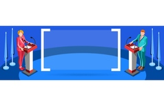 Election Infographic Presidential Debate Isometric vector image