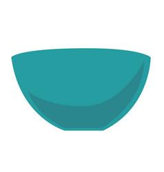 empty blue bowl cartoon vector image