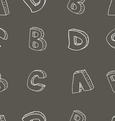 English alphabet seamless pattern sign sketch vector image vector image