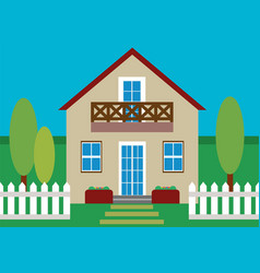 house flat design vector image vector image
